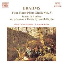 Johannes Brahms (1833-1897): Klaviermusik zu 4 Händen Vol.3, CD