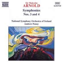 Malcolm Arnold (1921-2006): Symphonien Nr.3 & 4, CD