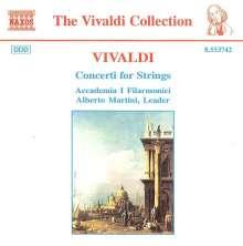 Antonio Vivaldi (1678-1741): Concerti für Streicher RV 113,114,138,151,, CD