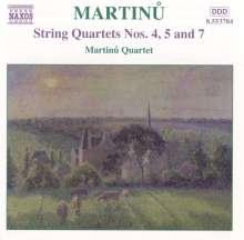 Bohuslav Martinu (1890-1959): Sämtliche Streichquartette Vol.3, CD