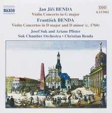 Frantisek Benda (1709-1786): Violinkonzerte in D & d, CD