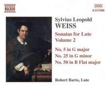 Silvius Leopold Weiss (1687-1750): Lautensonaten Vol.2, CD