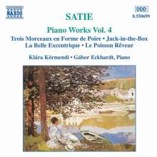 Erik Satie (1866-1925): Klavierwerke Vol.4, CD