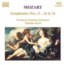 Wolfgang Amadeus Mozart (1756-1791): Symphonien Nr.21-24,26, CD