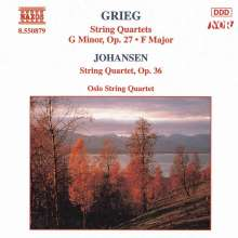David Monrad Johansen (1888-1974): Streichquartett op.36, CD