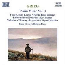 Edvard Grieg (1843-1907): Klavierwerke Vol.3, CD