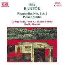 Bela Bartok (1881-1945): Klavierquintett, CD