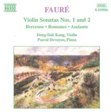 Gabriel Faure (1845-1924): Sonaten für Violine & Klavier Nr.1 & 2, CD