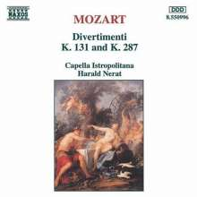 Wolfgang Amadeus Mozart (1756-1791): Divertimenti KV 131 & 287, CD
