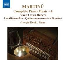 Bohuslav Martinu (1890-1959): Sämtliche Klavierwerke Vol.4, CD