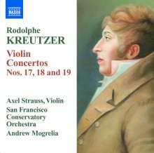Rodolphe Kreutzer (1766-1831): Violinkonzerte Nr.17,18,19, CD