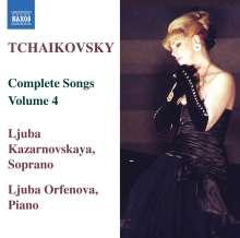 Peter Iljitsch Tschaikowsky (1840-1893): Sämtliche Lieder Vol.4, CD