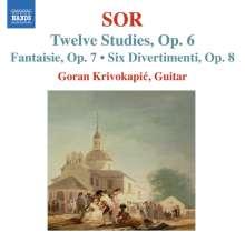 Fernando Sor (1778-1839): Etüden op.6 Nr.1-12, CD