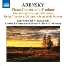 Anton Arensky (1861-1906): Klavierkonzert F-dur op.2, CD