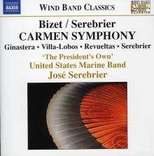 Jose Serebrier (geb. 1938): Carmen Symphony nach Bizet (für Blasorchester), CD