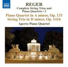 Max Reger (1873-1916): Sämtliche Streichtrios & Klavierquartette Vol.2, CD