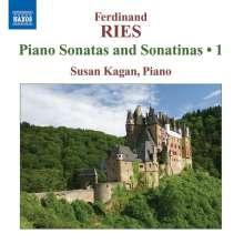 Ferdinand Ries (1784-1838): Klaviersonaten & Sonatinen Vol.1, CD