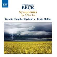 Franz Ignaz Beck (1734-1809): Symphonien op.3 Nr.1-4, CD