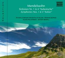 Naxos Selection: Mendelssohn - Symphonien Nr.1 & 4, CD