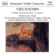 Henri Vieuxtemps (1820-1881): Violinkonzerte Nr.5-7, CD