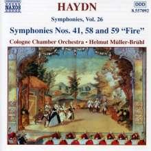 Joseph Haydn (1732-1809): Symphonien Nr.41,58,59, CD