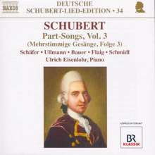 Franz Schubert (1797-1828): Mehrstimmige Gesänge Vol.3, CD