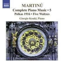 Bohuslav Martinu (1890-1959): Sämtliche Klavierwerke Vol.5, CD