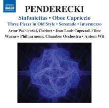 Krzysztof Penderecki (geb. 1933): Sinfoniettas Nr.1 & 2, CD