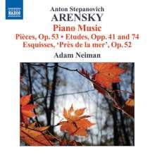 Anton Arensky (1861-1906): Klavierwerke, CD