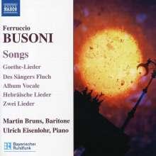 Ferruccio Busoni (1866-1924): Lieder, CD