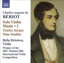 Charles-Auguste de Beriot (1802-1870): Musik für Violine solo Vol.1, CD