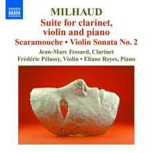 Darius Milhaud (1892-1974): Suite für Klarinette,Violine & Klavier op.157b, CD