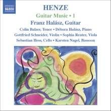"""Hans Werner Henze (1926-2012): Kammermusik mit Gitarre """"Guitar Music"""" Vol.1, CD"""