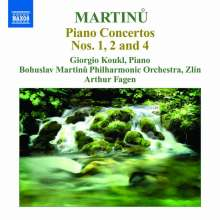 Bohuslav Martinu (1890-1959): Klavierkonzerte Nr.1,2,4, CD
