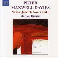 "Peter Maxwell Davies (1934-2016): Streichquartette Nr.7 & 8 ""Naxos-Quartette"", CD"