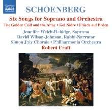 Arnold Schönberg (1874-1951): 6 Lieder für Sopran & Orchester op.8, CD