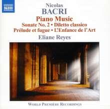 Nicolas Bacri (geb. 1961): Klavierwerke, CD