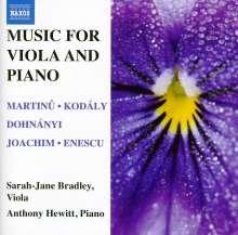 Sarah-Jane Bradley & Anthony Hewitt - Music for Viola & Piano, CD