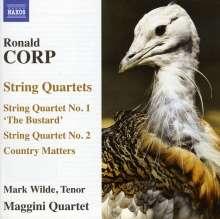 Ronald Corp (geb. 1951): Streichquartette Nr.1 & 2, CD