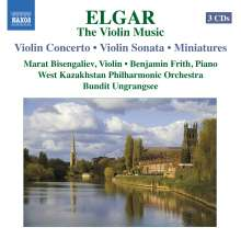Edward Elgar (1857-1934): Violinkonzert op.61, 3 CDs