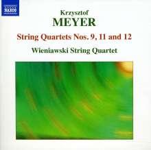 Krzysztof Meyer (geb. 1943): Streichquartette Nr.9,11,12, CD