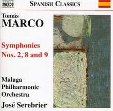 Tomas Marco (geb. 1942): Symphonien Nr.2,8,9, CD
