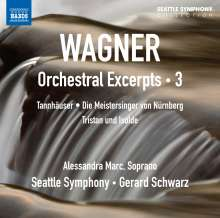 Richard Wagner (1813-1883): Orchestral Excerpts Vol.3, CD