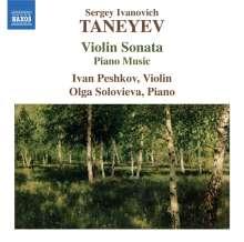 Serge Tanejew (1856-1915): Sonate für Violine & Klavier, CD