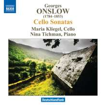 Georges Onslow (1784-1852): Sonaten für Cello & Klavier op.16 Nr.1-3, CD