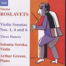Nikolaj Roslavets (1881-1944): Violinsonaten Nr.1,4,6, CD