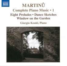 Bohuslav Martinu (1890-1959): Sämtliche Klavierwerke Vol.1, CD
