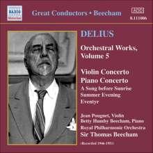Frederick Delius (1862-1934): Orchesterwerke Vol.5, CD