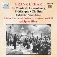 Franz Lehar (1870-1948): Operetten-Highlights (in frz.Spr.), CD