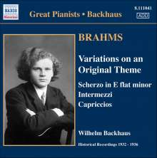 Johannes Brahms (1833-1897): Klavierwerke, CD